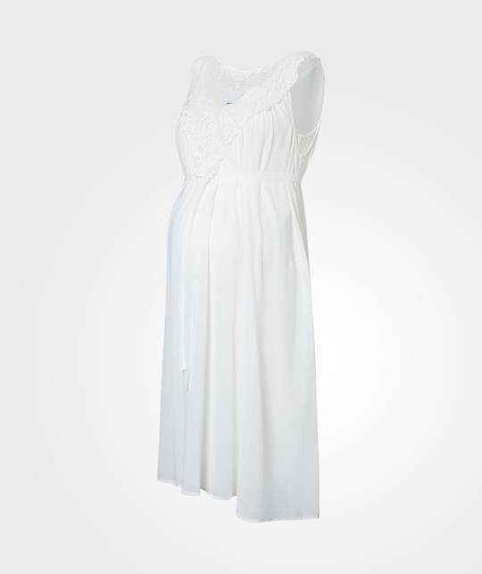 Mamalicious Coruna SL Woven Dress Snow White White