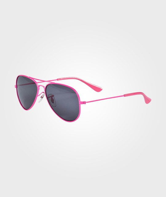 Rainbow & Snow Sunglasses Metal Neon Pink Pinkki