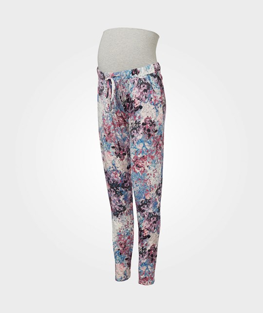 Mamalicious New Evely Jersey Pant  Snow White