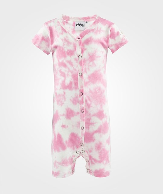ebbe Kids Tiddly Beachsuit S/S S/L, Tie Dye  Offwhite/Pink nectar