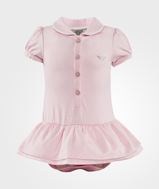 Emporio Armani Baby Jersey Jumpsuit Pink Pink
