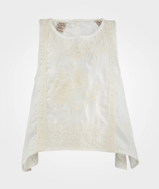 Scotch R'belle A-Line Tank Top With Embroideries White