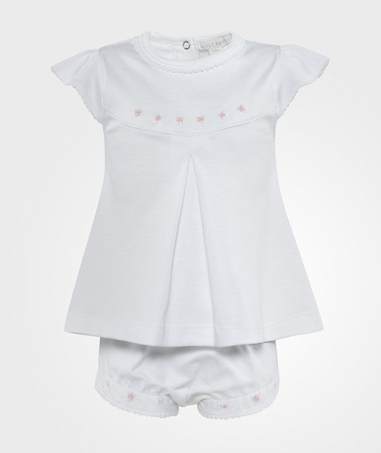Livly Embroidered Baby Tunic set Hvit