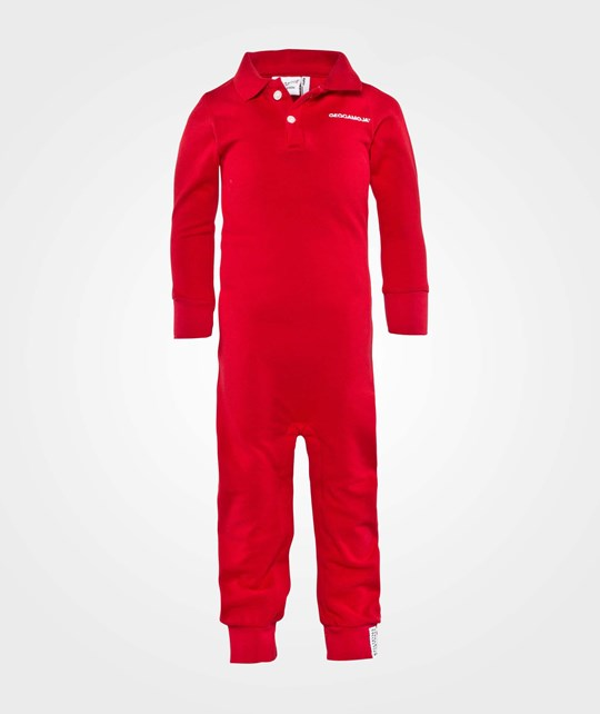 Geggamoja Polo Jumpsuit  Red