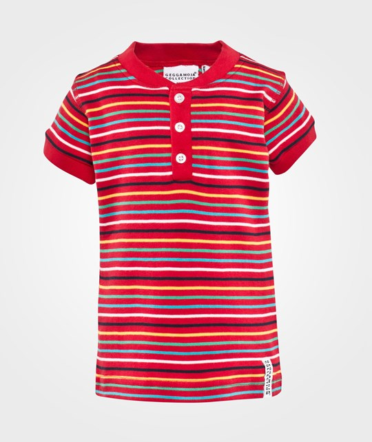Geggamoja Grandpa T-Shirt  Multistriped Red
