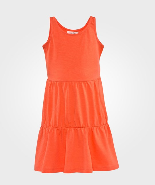 Little Pieces Nynne Dress Hot Coral Hot Coral