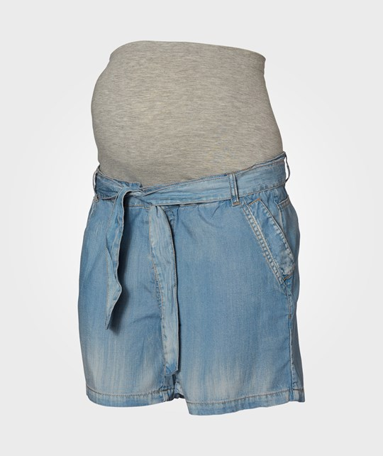 Mamalicious Woven Shorts Light Blue голубой