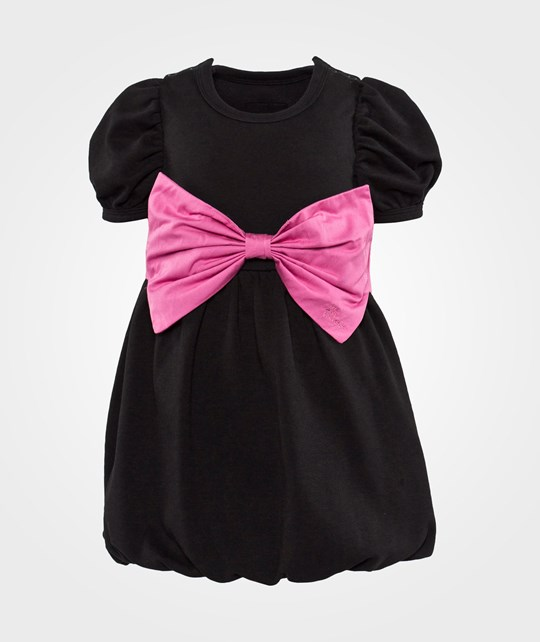The Tiny Universe Black Switch Dress/Huge Pink Ribbon Black and Pink