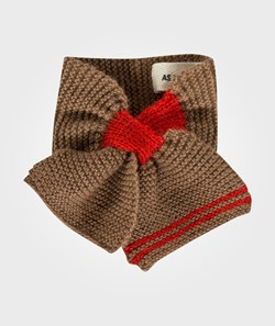 As We Grow Baby Scarf Red-cream-grey-camel