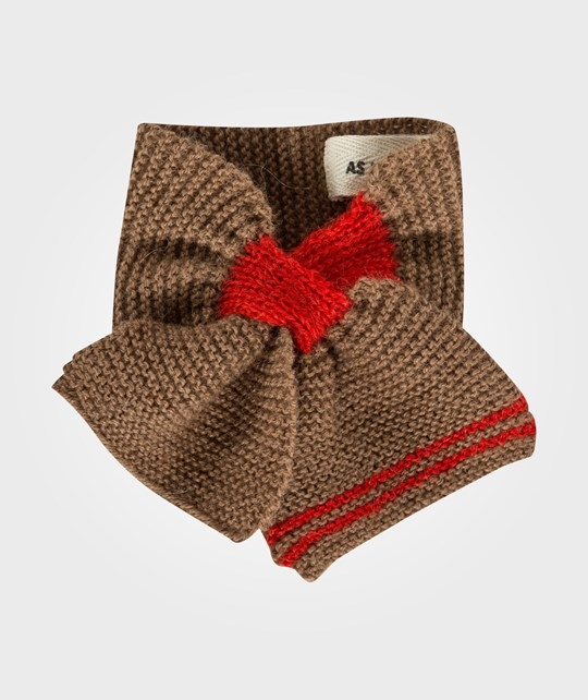 As We Grow Baby Scarf Red-cream-grey-camel Multi
