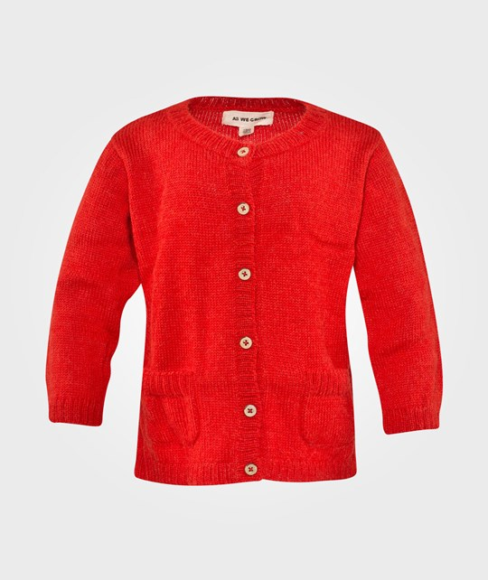 As We Grow Buttonup Cardigan Tomato Red Rød