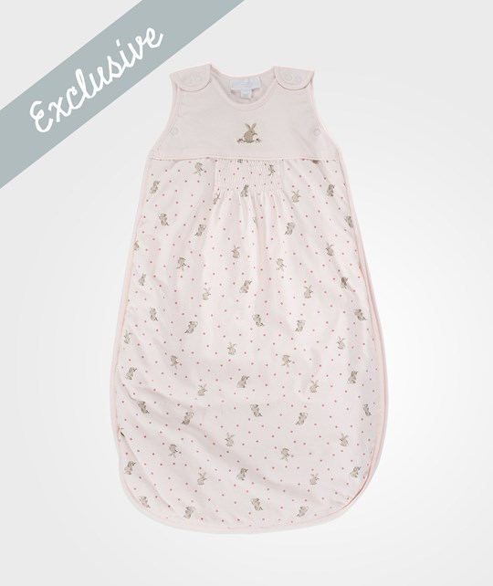 The Little White Company Pink Baby Bunny Sleeping Bag Pink