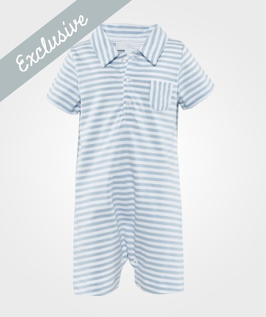 The Little White Company Pale Blue And White Jumpsuit Sininen