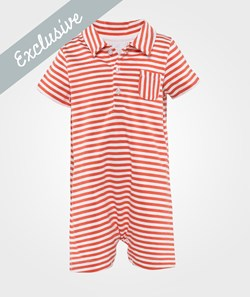 The Little White Company Orange And White Jumpsuit