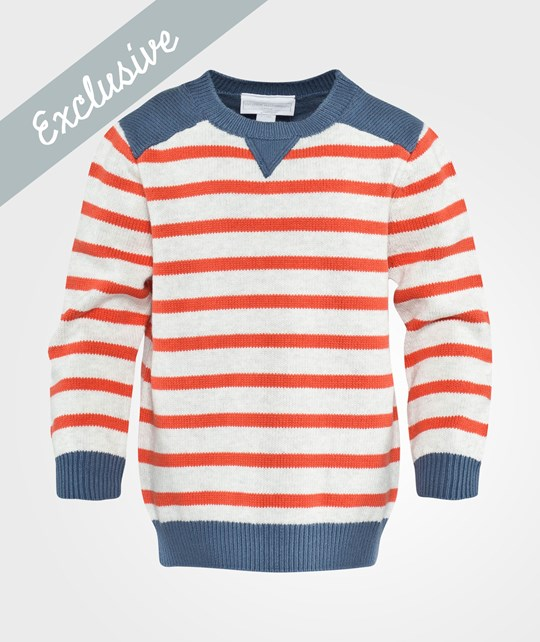 The Little White Company Sweater Grey/Red/Blue Grå