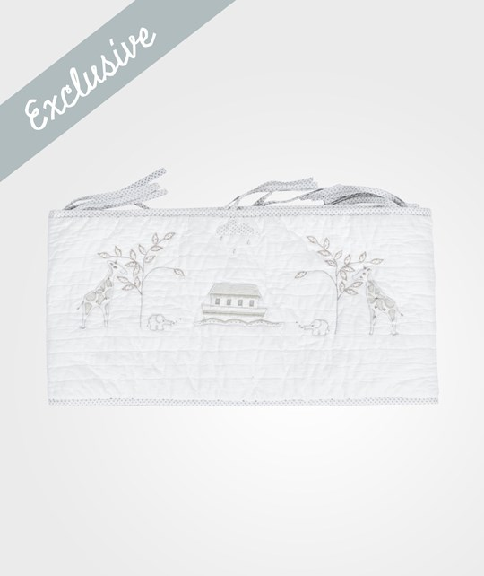 The Little White Company Bumper Noahs Ark Grey And White Grå