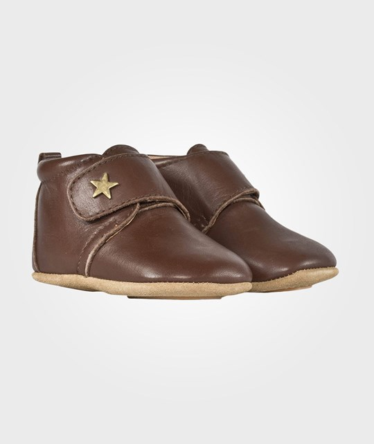 Bisgaard Velcro Shoe Star Brown Brun