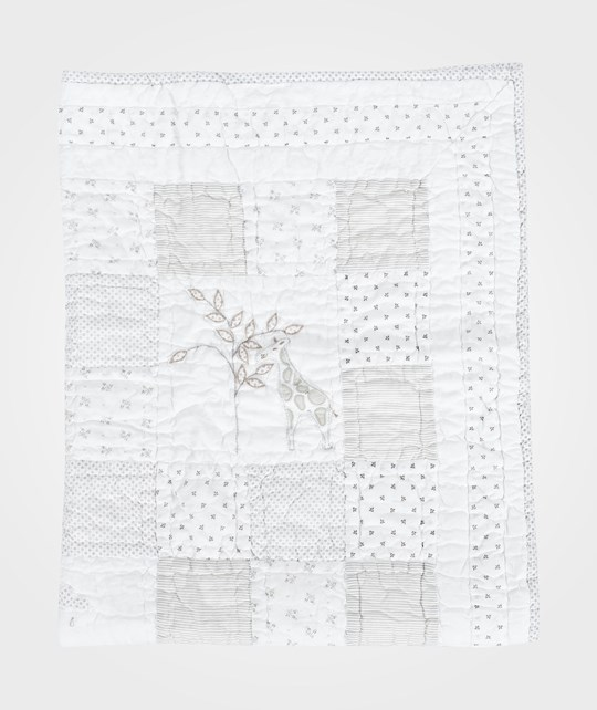 The Little White Company Cot Quilt Grey And White Grå