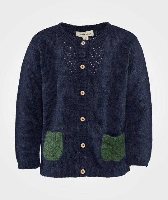As We Grow Lace Cardigan Midnight Blue Blue