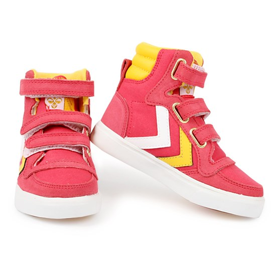 Hummel Stadil High Jr Canvas Sko Pink