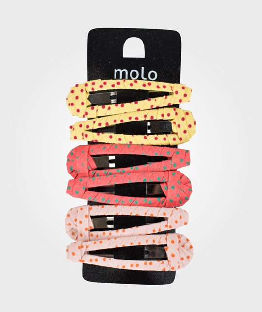 Molo Fabric Covered Clips Multi Coloured Multi