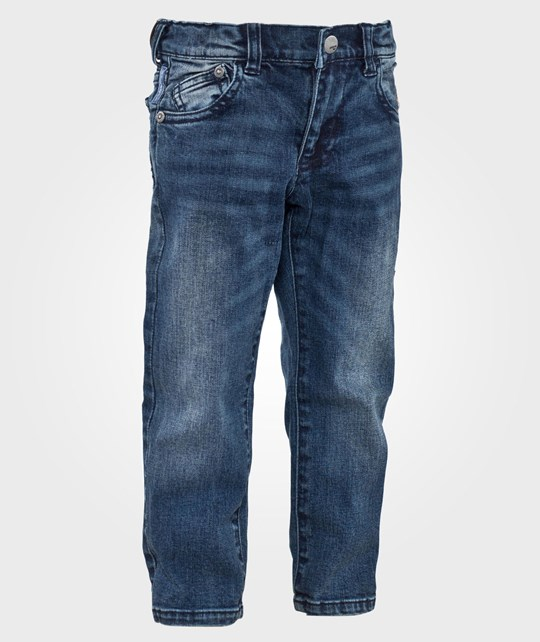 Emporio Armani Regular Fit 5-Pocket Denim Blå