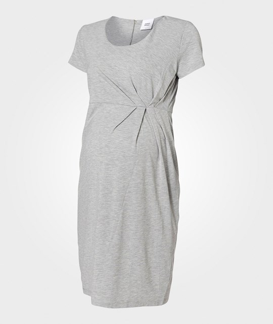 Mamalicious ML Paddy SS Jersey Dress Light Grey Grey