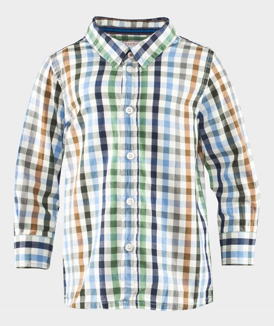 Esprit Check Baby Shirt Bright Blue Blue