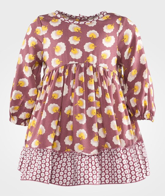 Stella McCartney Kids Martina Peony Printed Pom Pom Dress Pink