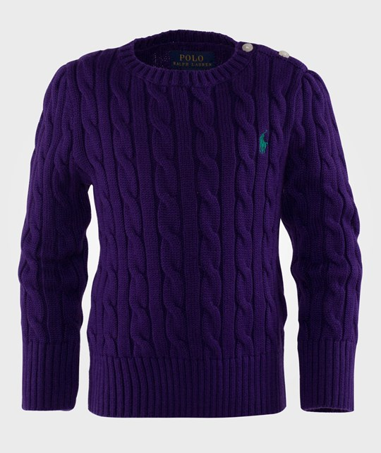 Ralph Lauren Lsl Classic Cable Pp College Purple Purple