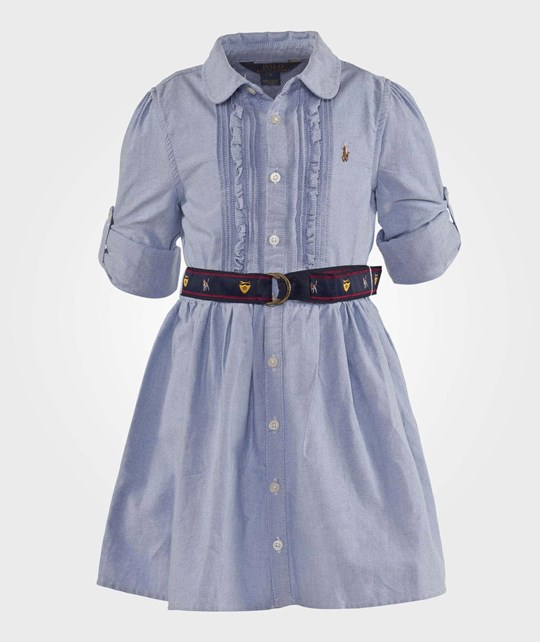 Ralph Lauren Lsl Oxford Dress Bsr Blue Blå