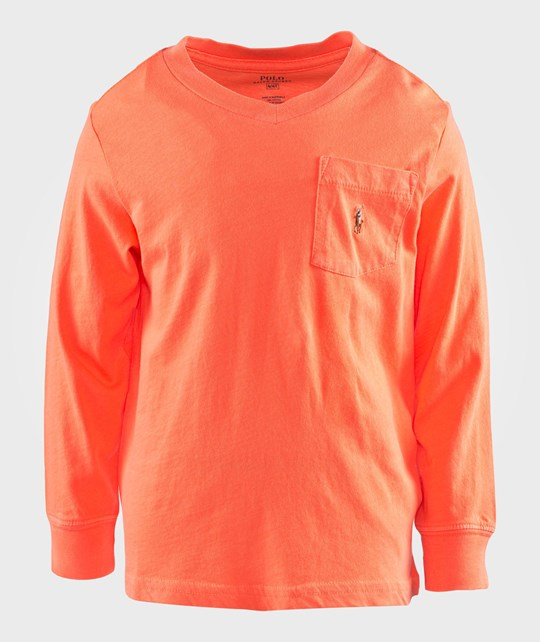 Ralph Lauren Lsl Neon Ls Cn Orange Flash Oranssi