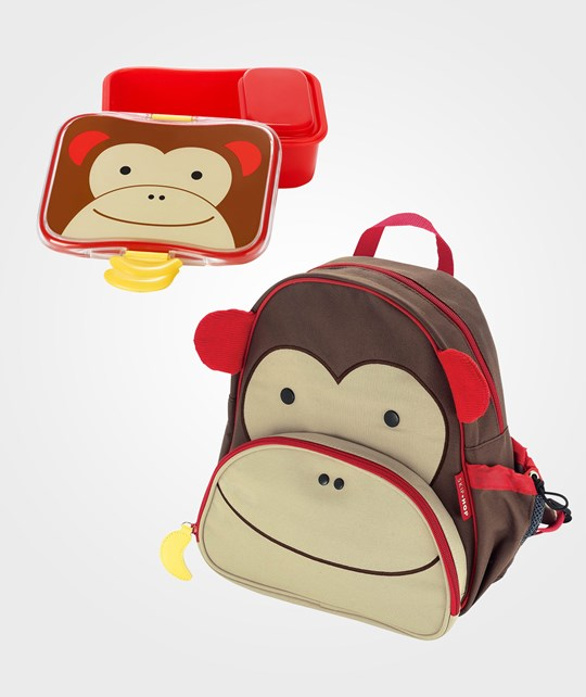Skip Hop Zoo Pack + Lunch Box Monkey Brun