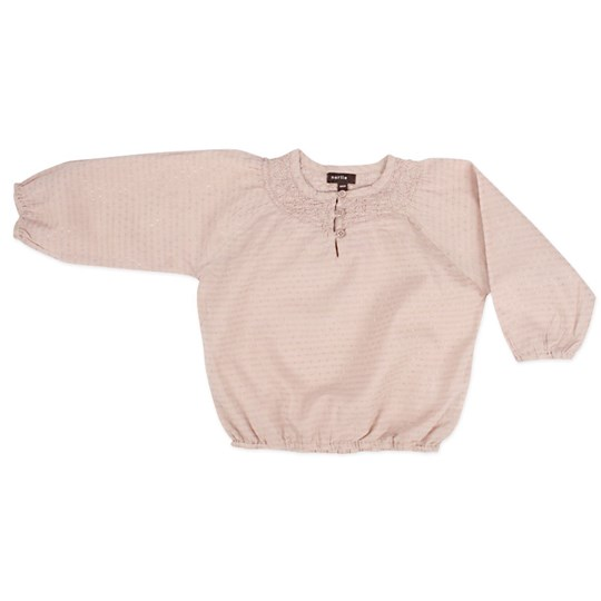 Norlie Summer Dobby Bluse Shadow Rose Pink