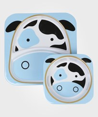 Skip Hop Zoo Plates Cow Multi