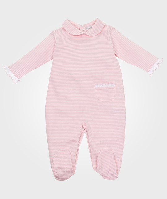 Kissy Kissy Simple Stripes Footie Pink