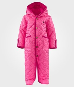 Ralph Lauren Quilted Hooded Barn Coverall Madison Pink