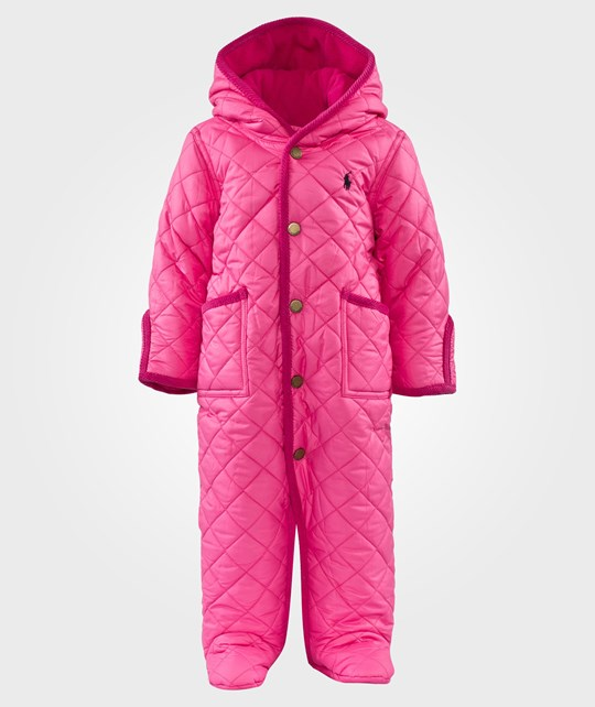 Ralph Lauren Quilted Hooded Barn Coverall Madison Pink Rosa