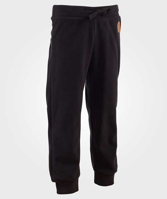 Mini Rodini Fleece Trousers Black Black