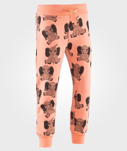 Mini Rodini Elephant AOP Sweatpants Pink Pink