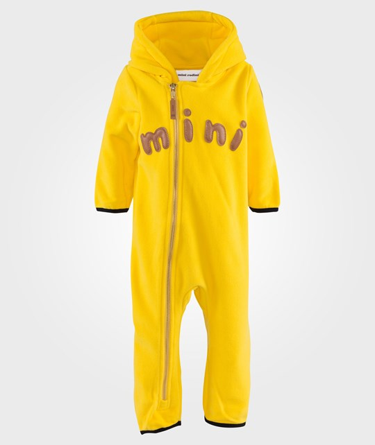 Mini Rodini Fleece Onesie Yellow Yellow