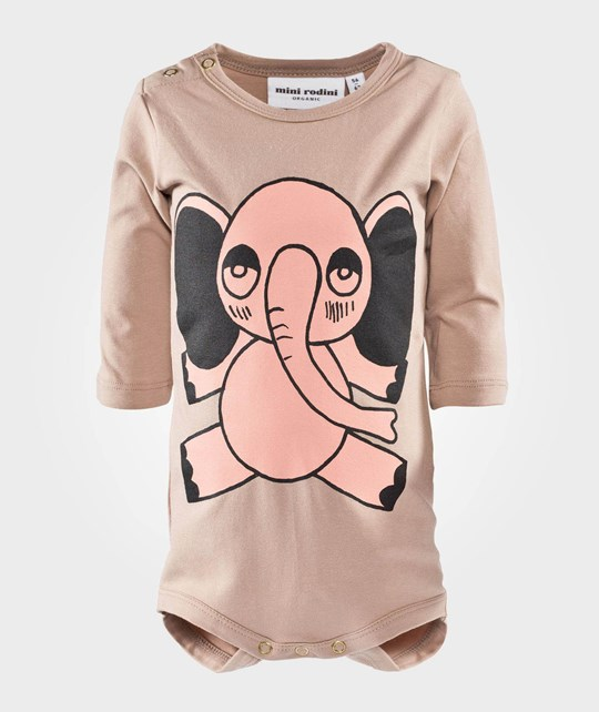 Mini Rodini Elephant SP LS Body Beige Beige