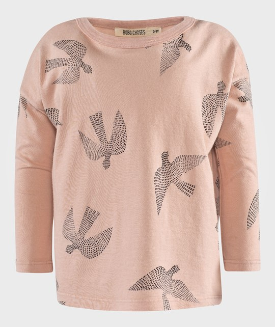 Bobo Choses Кофта T-shirt LS Birds AO розовый