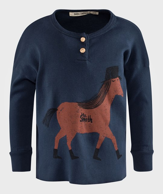 Bobo Choses T-shirt LS buttons Horse Sand
