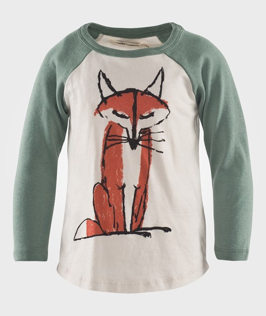 Bobo Choses Кофта T-shirt LS Raglan  Fox зеленый