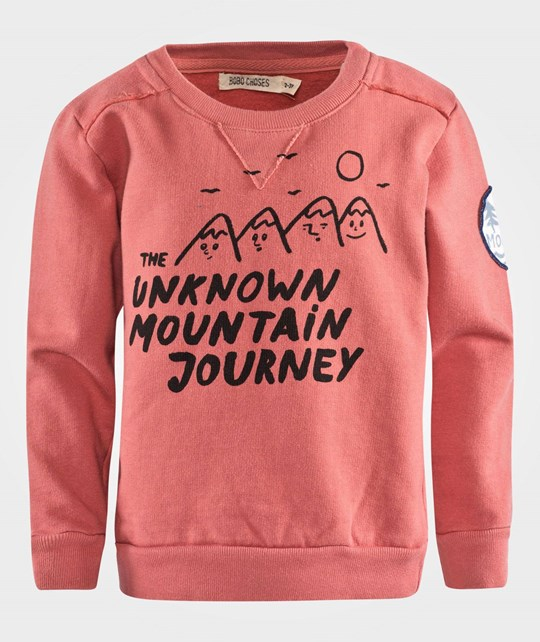 Bobo Choses Sweatshirt Crew Neck Mountains Red