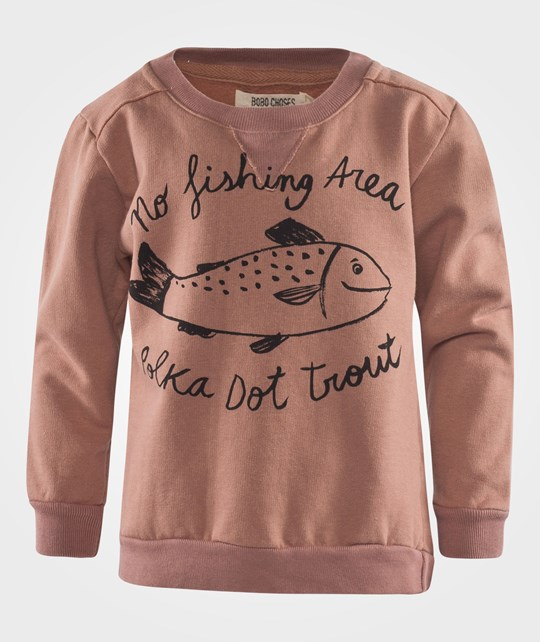 Bobo Choses Sweatshirt Crew Neck Trout Brown