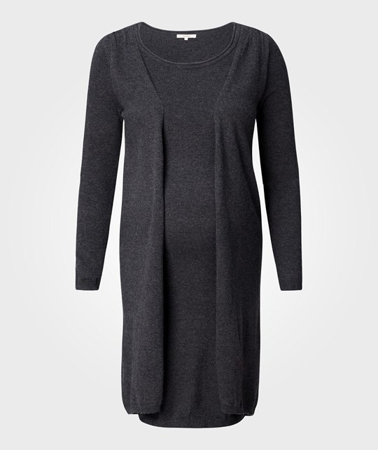 Noppies Dress Knit Ls Haeli Anthracite Melange Grey