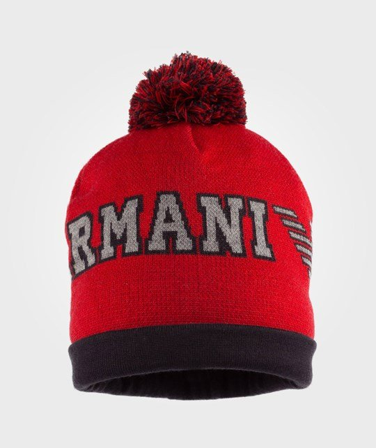 Emporio Armani Red Beanie Red