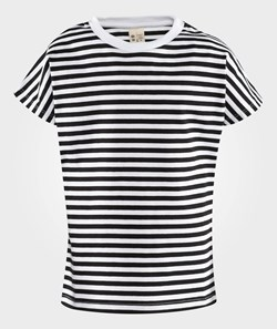 Gray Label Striped S/S Tee Nearly Black / White Stripe